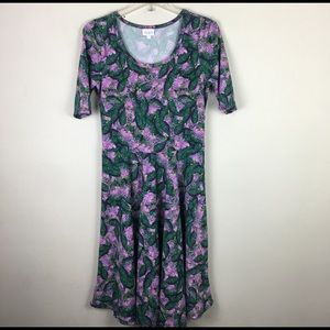 LulaRoe Amelia floral midi dress